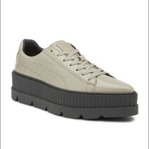 FENTY PUMA Pointed Patent Leather Platform Sneaker